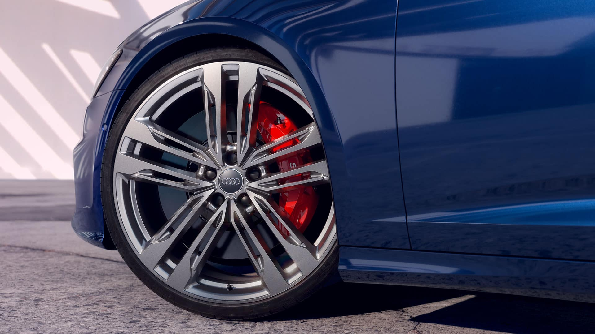 Wheels and calipers Audi S6 Avant