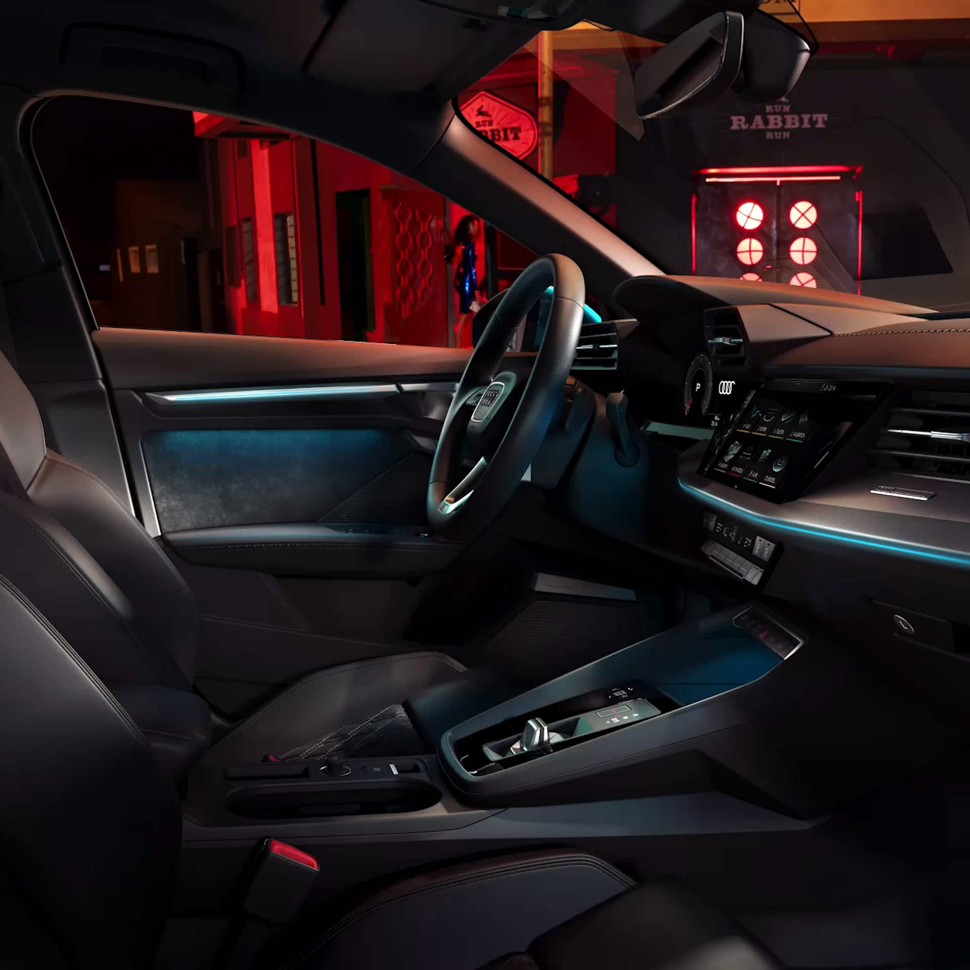 Animated ambiente light in the Audi A3 Sportback