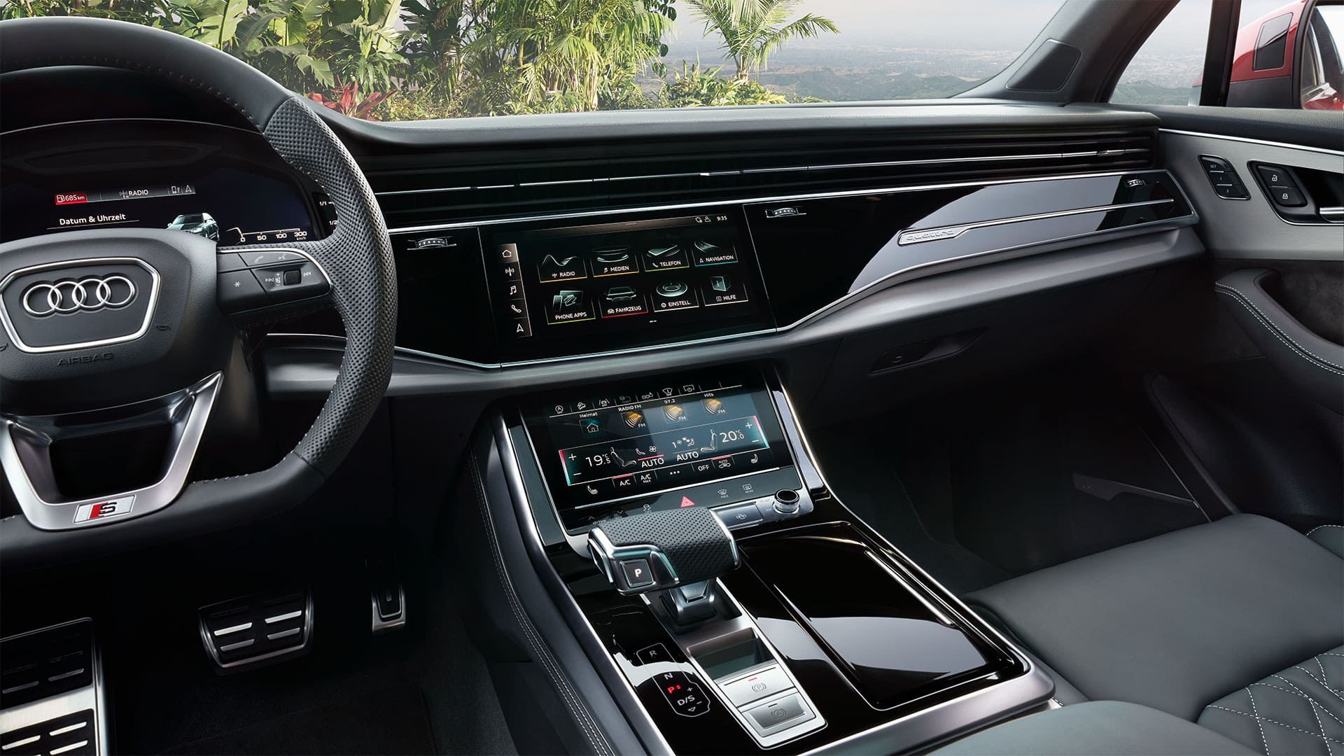 MMI Navigation plus mit MMI touch im Audi Q7